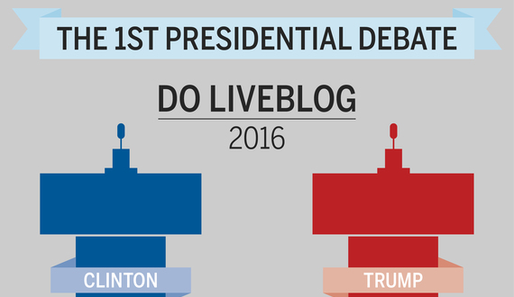 LIVE STREAM: Follow along during the 1st presidential debate